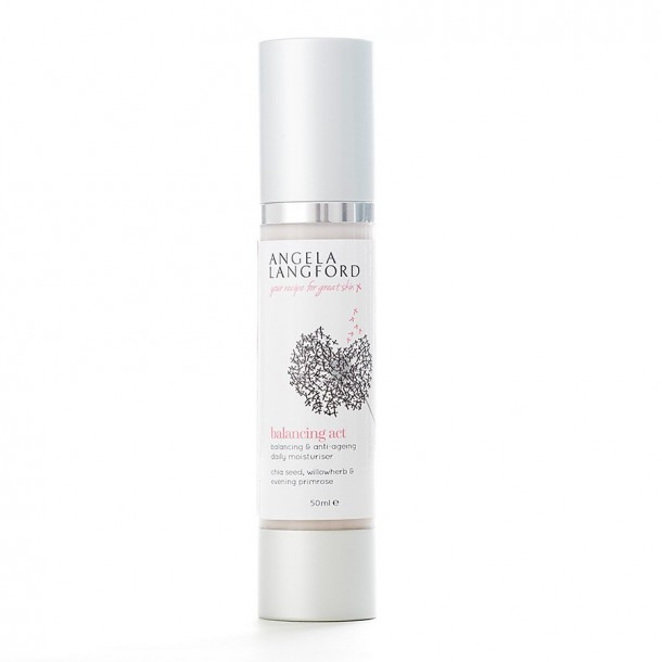 natural moisturiser balancing act from Angela Langford Skincare