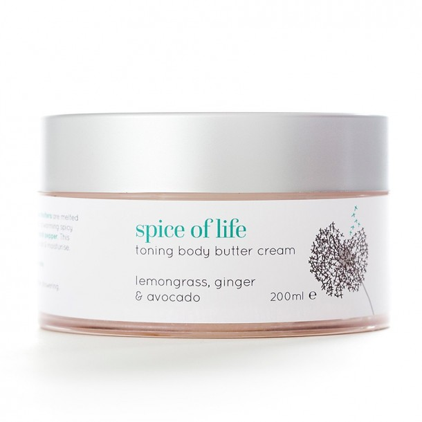 natural body butter cream spice of life from Angela Langford Skincare