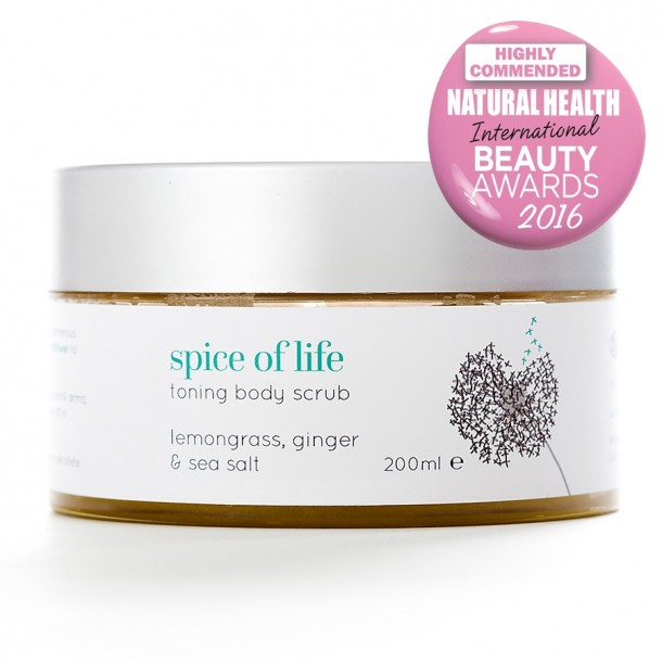 natural body scrub spice of life from Angela Langford Skincare
