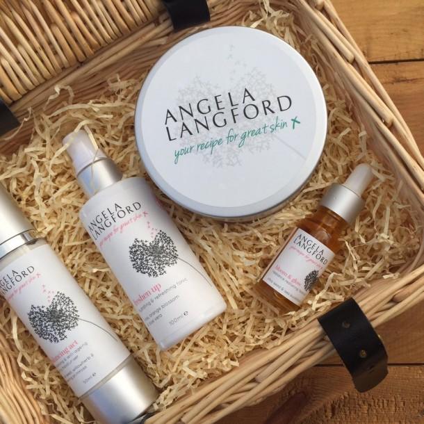 bespoke natural skincare gift hamper by Angela Langford Skincare