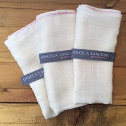 hand made organic muslin cloths from Angela Langford Skincare