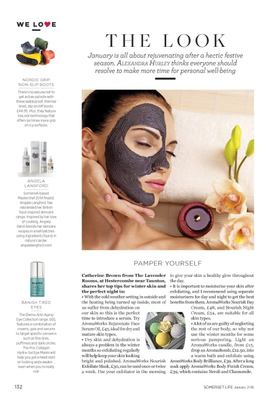 Angela Langford Skincare is featured in Somerset Life