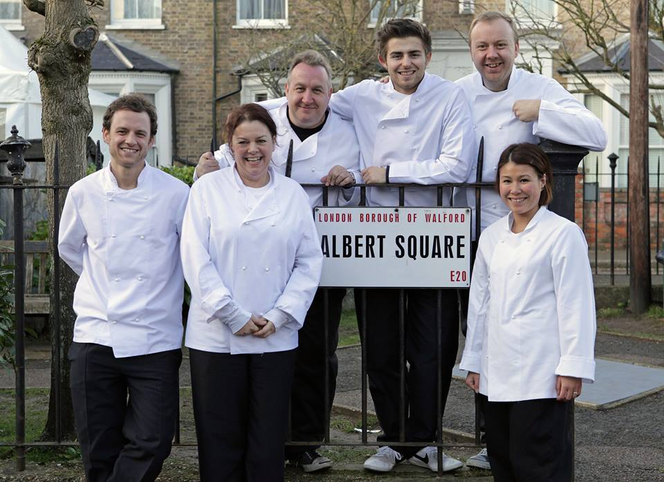 Angela Langford cooked on the set of Eastenders with her fellow Masterchef contestants