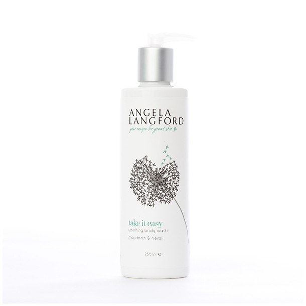 natural body wash take it easy from Angela Langford Skincare