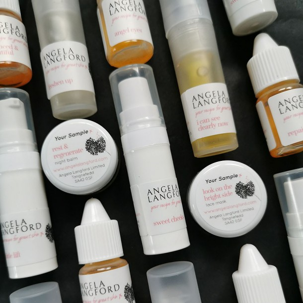 free samples by Angela Langford Skincare