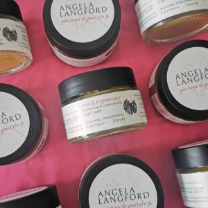 natural night balm rest and regenerate from Angela Langford Skincare