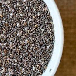 Natural skincare products with chia seeds - Angela Langford Skincare