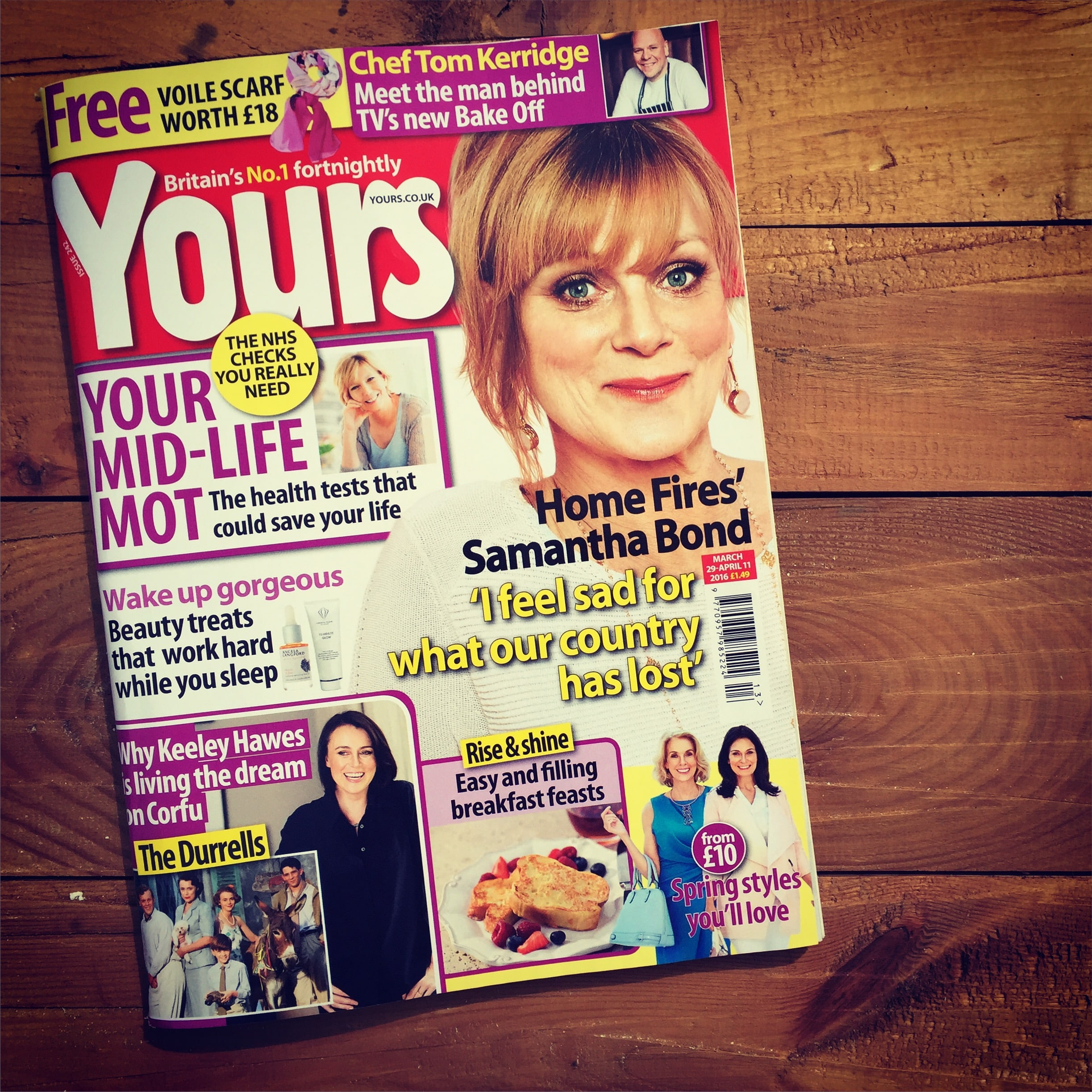 Yours Magazine features Angela Langford Skincare