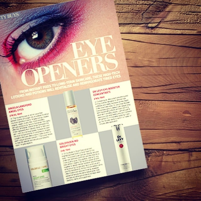Marina Magazine loves natural eye oil Angel Eyes by Angela Langford Skincare