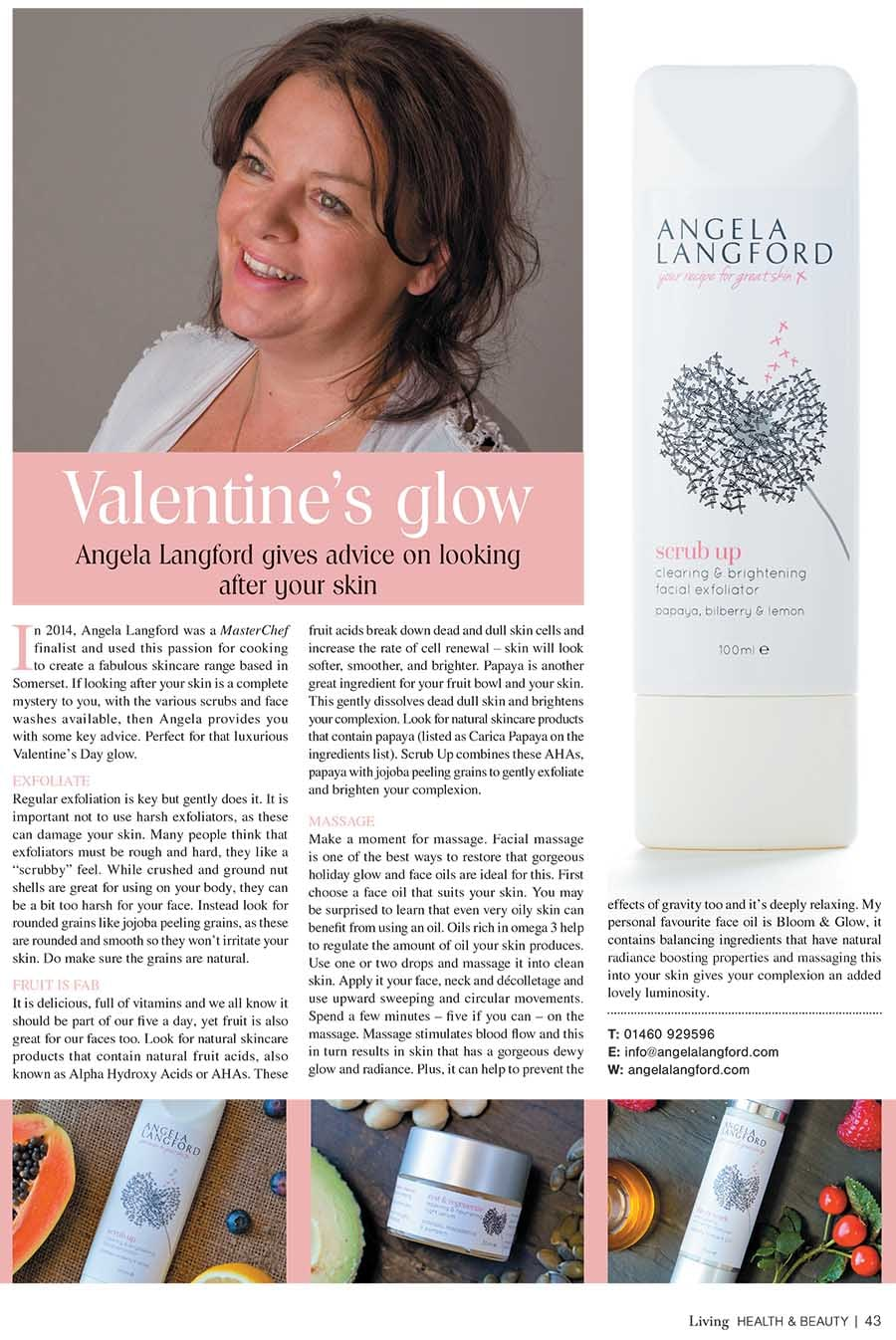 Somerset Gazette talks to Angela Langford Skincare about looking after your skin this February