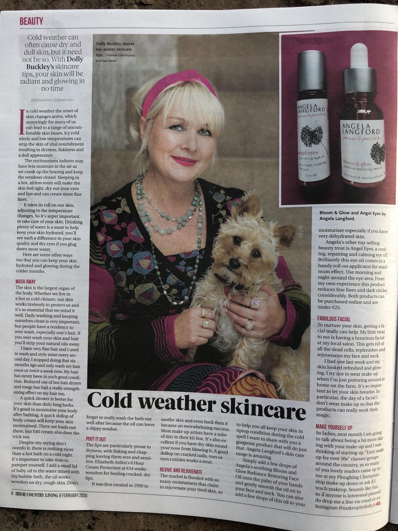 Celebrity Make Up Artist Dolly Buckley loves Angela Langford Skincare