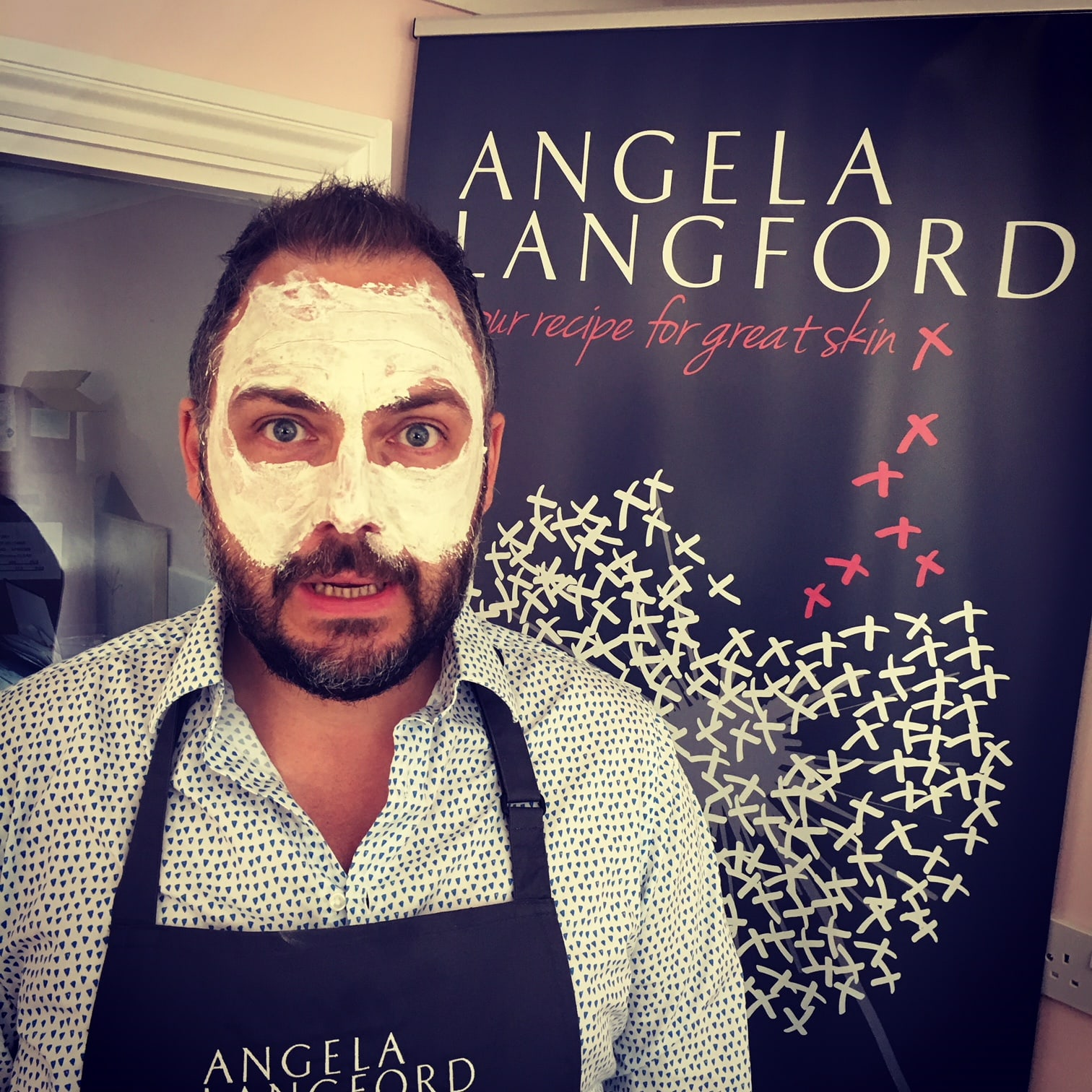 face mask recipe testing by Lee at Angela Langford Skincare