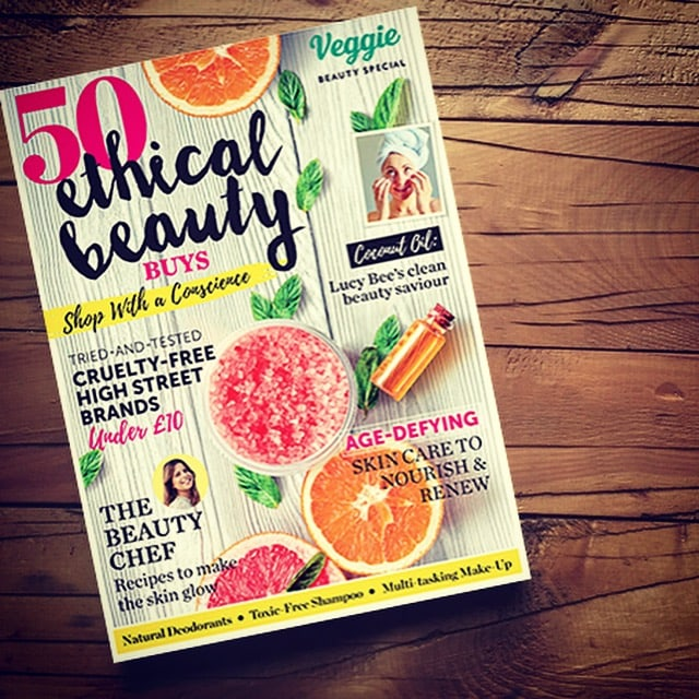 veggie magazine choses Angela Langford in their Top 50 Ethical Beauty Buys