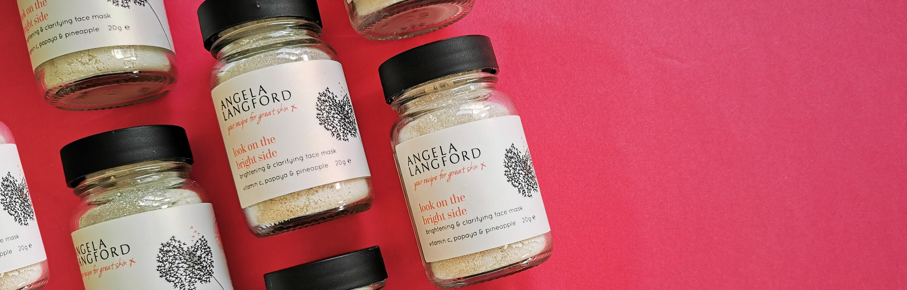look on the bright side face mask by Angela Langford Skincare
