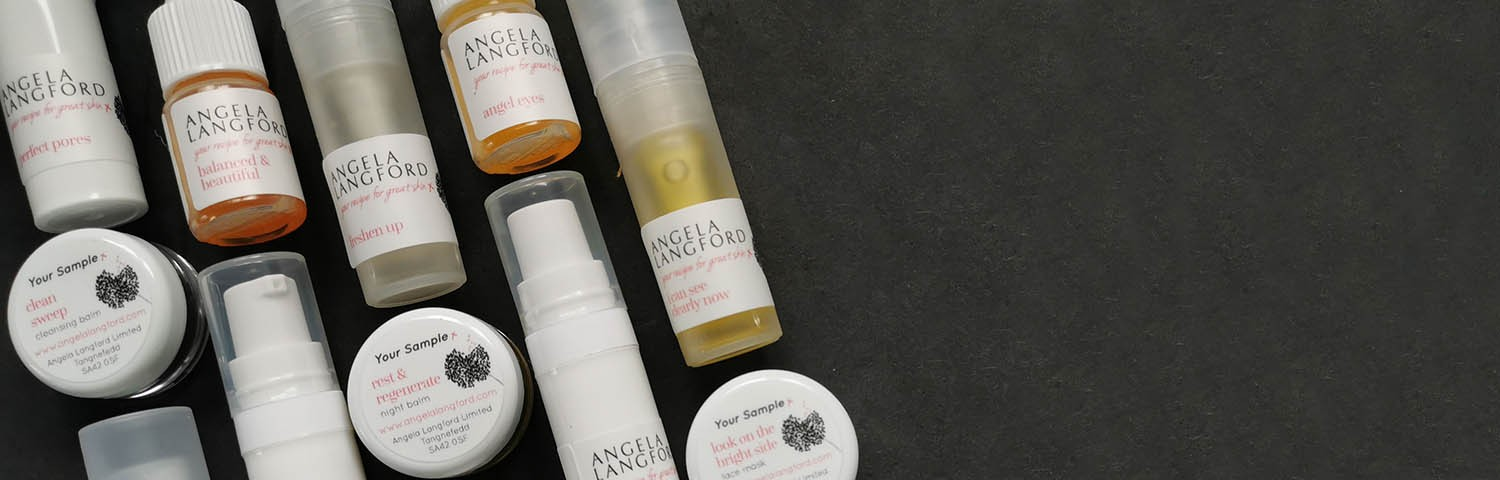 Order your Skincare Sample Pack from Angela Langford Skincare